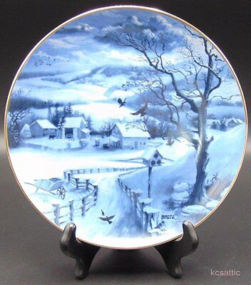 "Rob Sauber Winter Mindscapes ""Country Morning"" Hamilton Collection Plate"