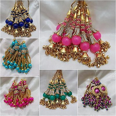 Colour Gold Latkan Dangles Tassel Saree Sari Blouse Dupatta Bridal Suit Latkans