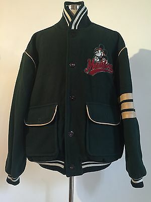 Vintage Mickey Mouse Maulers Disney Pigskin Classics Wool Jacket Men's Xl