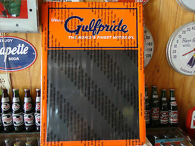 Gulf Oil Modern Chalk/menu  Board Licensed By Gulf Oil Usa Made Beautiful Colors