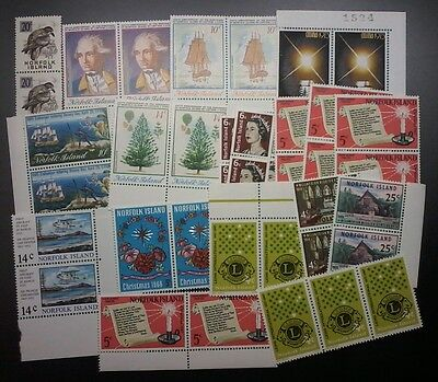 Decimal,Norfolk Island,Australia, Asst'd Bulk Lot of Stamps,PAIR,MUH,#1193