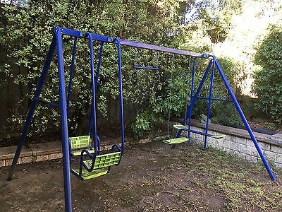 Hills Playtime Swing Set - Blue & Green, Donvale Location (Used)