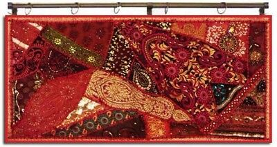 """40"""" Traditional Vintage Sari Décor Ind Beaded Wall Hanging Tapestry Runner Throw"""