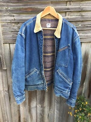 Vintage 50s 60s LEE 191j Denim Jacket (46)