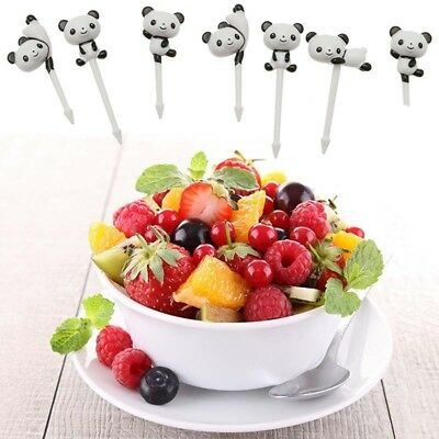 Creative 8 pcs/set Cute Animal Cupcake Food Fruit Picks Birthday Party Decor