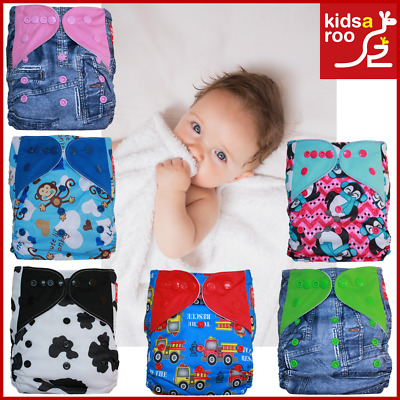 Reusable Modern Cloth Nappies Baby Diaper- Inserts -Charcoal Bamboo - Microfibre
