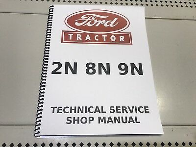 8N Ford Technical Service Shop Repair Manual 2N 9N Red Belly Compatable