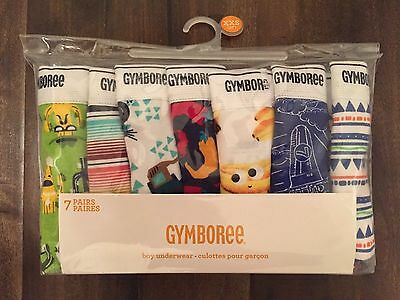 Gymboree 7 pack NWT boy's underwear, briefs NEW, XXS 2T Bananas Jeeps Airplanes