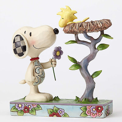 Peanuts by Jim Shore Snoopy with Woodstock in Nest Warming Gift