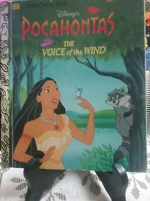 Disney's POCAHONTAS THE VOICE OF THE WIND Little Golden Book 1995  (VGC)