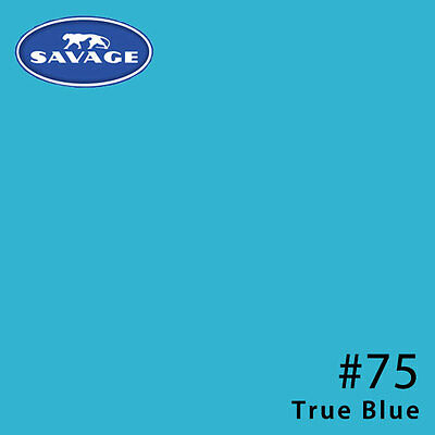 Savage #75 TRUE BLUE 2.72 x 11m Widetone Seamless Background Paper Roll 145 GSM