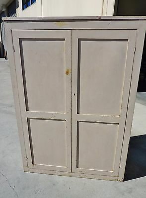 AUSTRALIAN vintage INDUSTRIAL PINE linen press PANTRY storage CUPBOARD CABINET