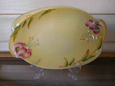"""Royal Winton Yellow """"Tiger Lily"""" Serving Plate Made In England 1930s"""