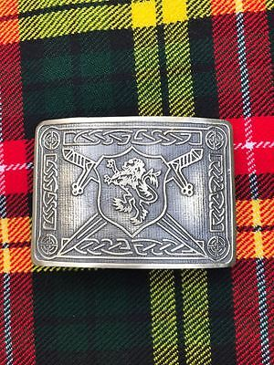 Scottish Kilt Belt Buckle Rampart Lion Design Antique Finish/Kilt Belt Buckle