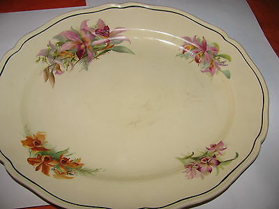ROYAL DOULTON  SERVING PLATE orchid pattern