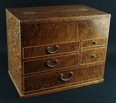 Japanese Vintage: Wooden Sewing Box Draw from Taisho Period #P