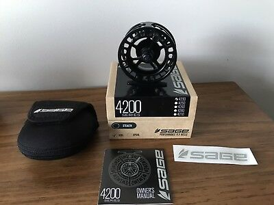 Sage 4230 fly reel 3/4 wt Stealth Black - New - Trout fly fishing