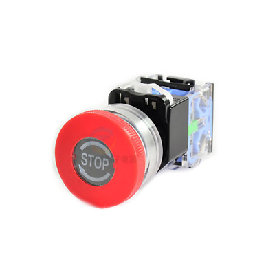 1PCS Emergency stop Push button Switch,twist to release,1 N/C contact 30MM