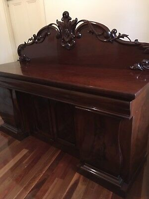 Antique Flame Mahogany Sideboard