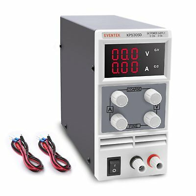 DC Power Supply, Eventek Variable DC Bench Power Digital Switching Adjustable /