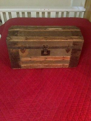 Vintage wooden chest from the late 1800's
