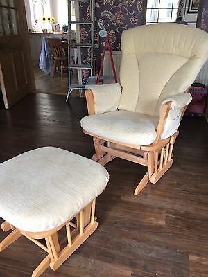 Dutailier Nursing Glider Maternity Rocking Chair With Stool