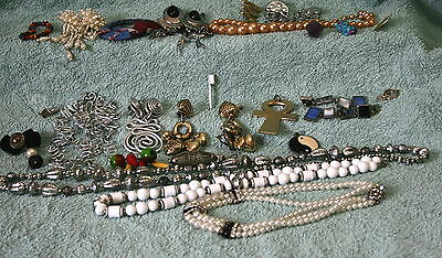 VINTAGE 1980s - 1990s -  COSTUME JEWELLERY & BITS FOR CRAFT & JEWELLERY MAKING-1