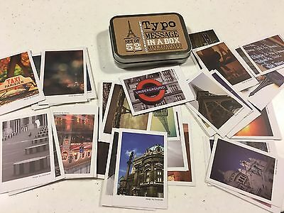 Typo Message In A Box Mini Postcards. Paris Images. Collect Or Post