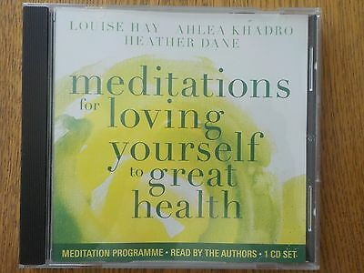MEDITATIONS for LOVING YOURSELF to GREAT HEALTH by LOUISE HAY...CD