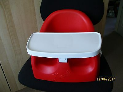 Babyway Karibu Baby's Booster Seat, Feeding Chair with Tray - Red. IMMACULATE.