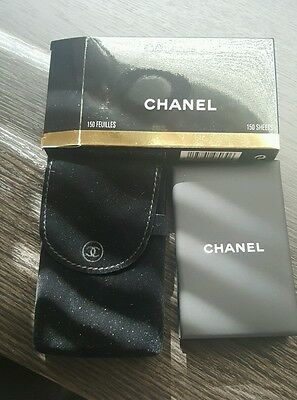 chanel oil blotting paper with mirror pack