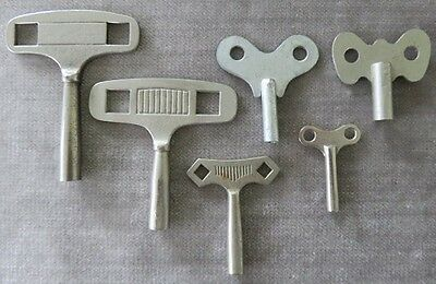 ~Vintage Lot Of 6 Clock Keys~