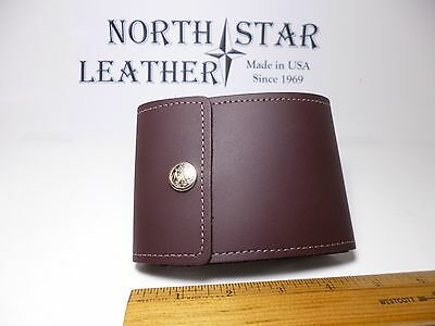 North Star Burgundy End Stub Leather Checkbook Cover-Made In USA-1st Quality#134