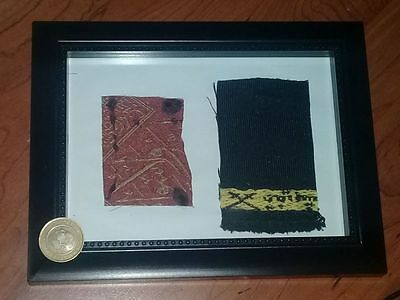 Very Rare Islamic Holy Mecca Kaba Black Cloth And Inner Red Cloth