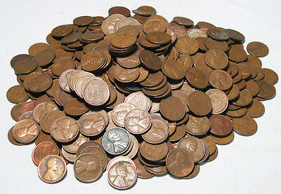 500 UNSEARCHED Lincoln Wheat Cents Pennies ~- free shipping