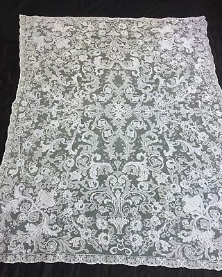 STUNNING! Antique Net crochet Lace Tablecloth Vintage  Lots listed! Favorite*