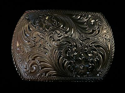Brand New in Case Montana Silversmiths Antiqued Dress Belt Buckle