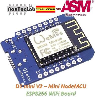 D1 mini V2 - Mini NodeMcu 4M bytes Lua WIFI Development Board ESP8266
