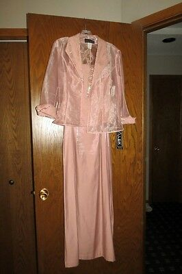 Mother of Bride Dress, Size 6, New w Tags, Alex Taupe/ Blush
