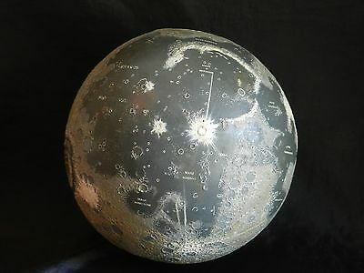 A Rare Luna Moon Relief Globe By A. J. Wightman 1970  ( Appollo 11)