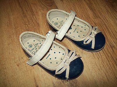 Next baby girl blue patent shoes size 5- ideal special occasion