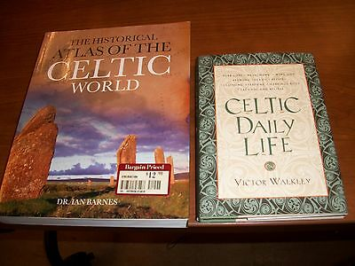 Lot of 2, books about Celtic Life and History by Vicor Walkley and Ivan Barnes
