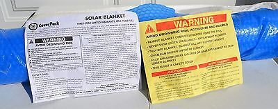 8'X8' CoverPack Round Spa Hot Tub Solar Blanket Cover  *NOS*        #1588