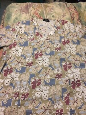 Women's Cute Absolute Tan Scrub With Hibiscus Size XL