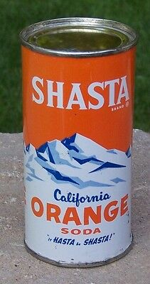 *High Grade* 10 ounce Shasta California Orange Soda Flat Top--Pre-Zip Code