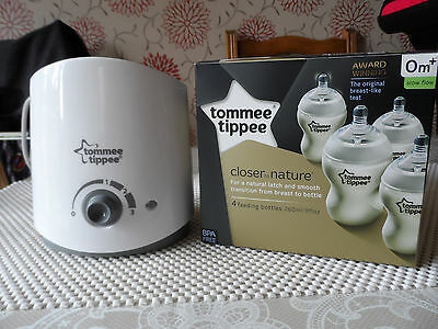 Tommee Tippee bottle and food warmer with closer to nature bottles