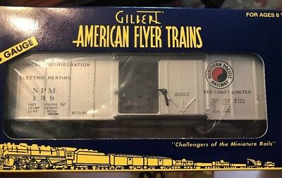 American Flyer 6-48809 Northern Pacific Reefer Refrigerator Car S gauge- NEW