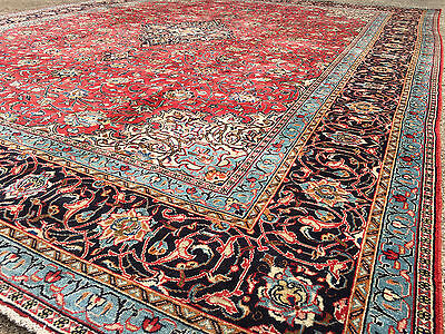 10x13 HAND KNOTTED WOVEN PERSIAN AREA RUG IRAN WOOL 10 x 13 rugs antique 9 12 14