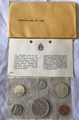 1965 Canadian Mint Set - Silver Coins - Uncirculated - (d)