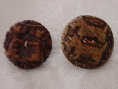 2 Scottie Terriers Dogs Pairs Buttons